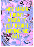 Kanye West Hey Mama Mother's Day Card (Plays Song)