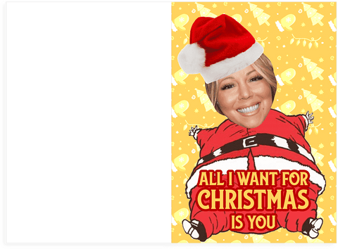 All I Want For Christmas.Mariah Carey All I Want For Christmas Is You Merry Christmas Holiday Card Plays Song
