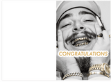 Post Malone Congratulations Card (PLAYS ACTUAL SONG)