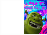 Trippy Shrek Smash Mouth All Star Birthday Card (PLAYS ACTUAL SONG)
