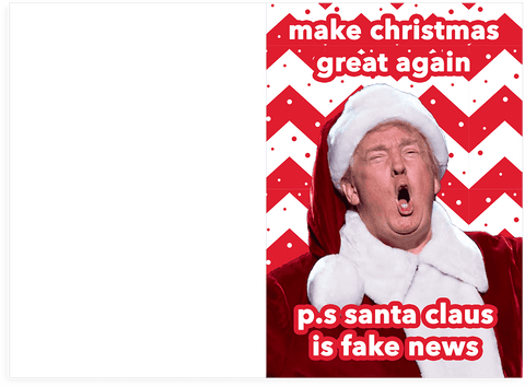 Donald Trump Make Christmas Great Again Holiday Card Plays Sound