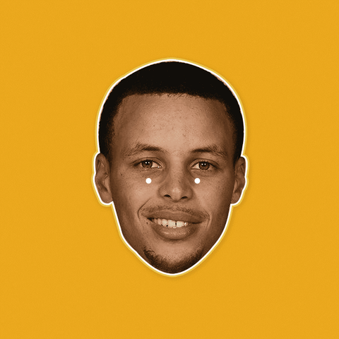 Happy Stephen Curry Mask by RapMasks