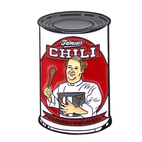 Free Kevin Malone Famous Chili The Office Enamel Pin Just Pay Shipping