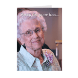 Terrible Funny Disgusting Condolences Greeting Card