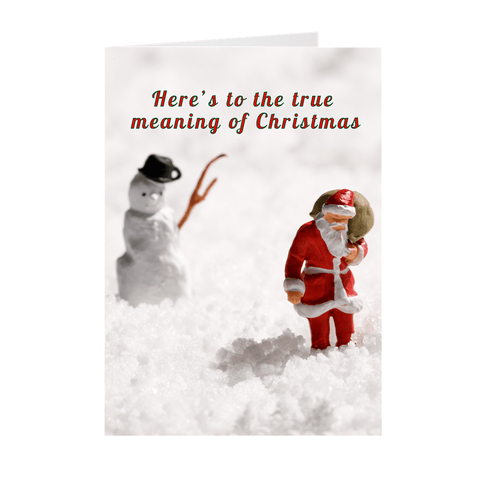 Crazy Funny Weed Christmas Greeting Card