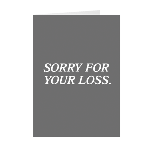 Funny Anime Sorry For Your Loss Greeting Card