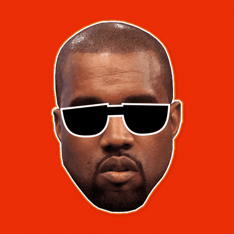 Blind Kanye West Mask - Perfect for Halloween, Costume Party Mask, Masquerades, Parties, Festivals, Concerts - Jumbo Size Waterproof Laminated Mask