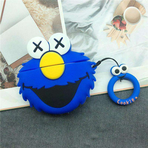 Cookie Monster Sesame Street Apple Airpods Case FREE SHIPPING