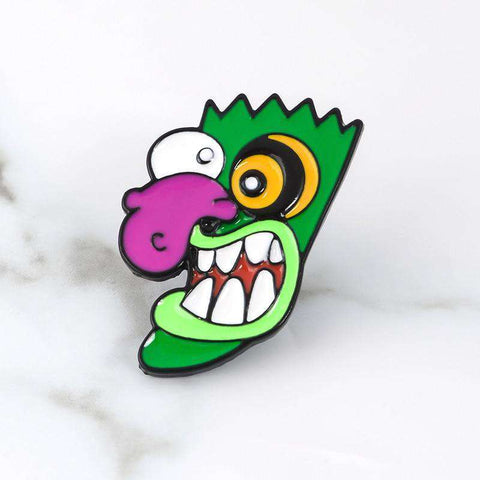 Free Ooga Booga Mask Courage The Cowardly Dog Cartoon Network Enamel Pin Just Pay Shipping