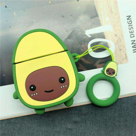 Cute Kawaii Avocado Apple Airpods Case FREE SHIPPING