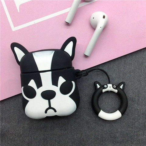 Cute Boston Terrier Apple Airpods Case FREE SHIPPING