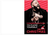 DJ Khaled Congratulations You Played Yourself Christmas Holiday Card (PLAYS SOUND)