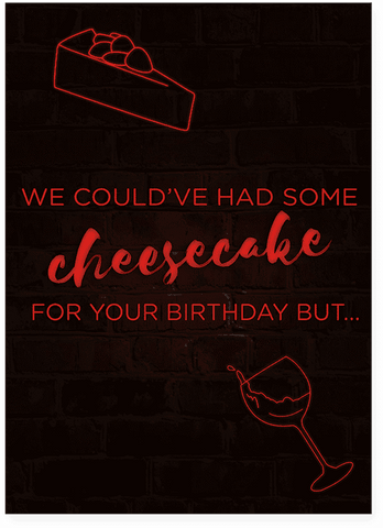 Drake Childs Play Cheesecake Birthday Card (PLAYS ACTUAL SONG)