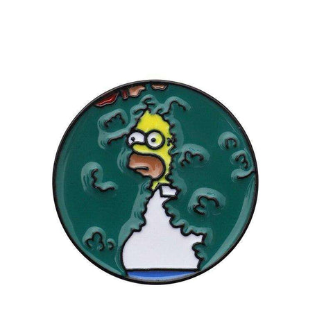 Free Homer Backs Into Bushes Meme The Simpsons Enamel Pin Just Pay Shipping
