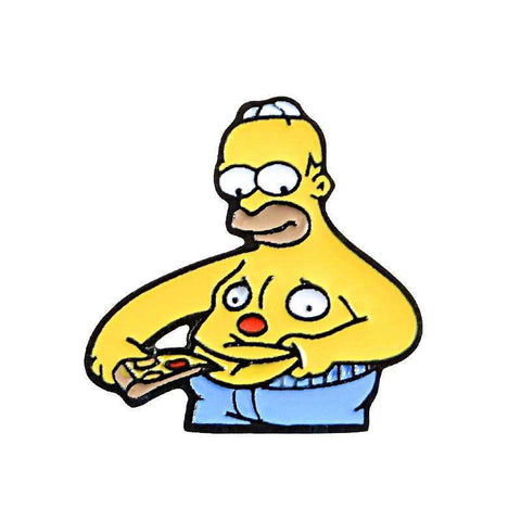 Free Homer Simpson Pizza Belly The Simpsons Enamel Pin Just Pay Shipping