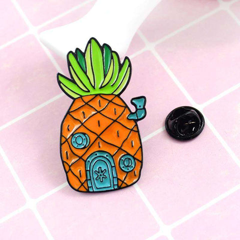 Free Spongebob Squarepants Pineapple Under The Sea Enamel Pin Just Pay Shipping