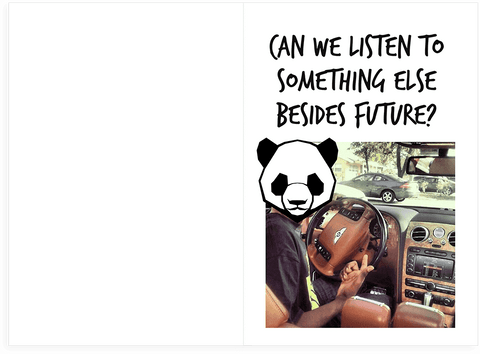 Desiigner Future Trap Panda Birthday Card WITH SOUND Unwelcome – Rick Roll Birthday Card
