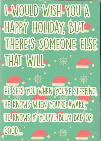 His Name Is John Cena Holiday Card With Sound Unwelcome Greetings