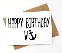 Happy Birthday Wanker Funny Happy Birthday Card FREE SHIPPING