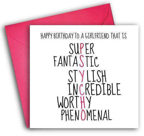 Psycho Girlfriend Funny Happy Birthday Card FREE SHIPPING Unwelcome Greetings