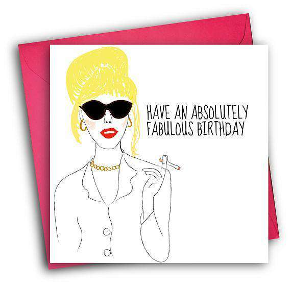 absolutely fabulous patsy stone funny happy birthday card free