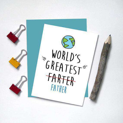 Worlds greatest father farter funny fathers day card unwelcome worlds greatest father farter funny fathers day card m4hsunfo
