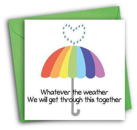 we will get through this together funny get well card feel better