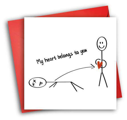 My heart belongs to you funny anniversary card valentines day card my heart belongs to you funny anniversary card valentines day card love card free shipping m4hsunfo