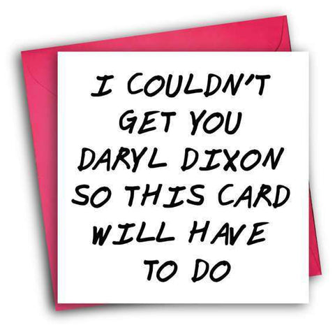 The walking dead daryl dixon funny happy birthday card free shipping the walking dead daryl dixon funny happy birthday card free shipping m4hsunfo