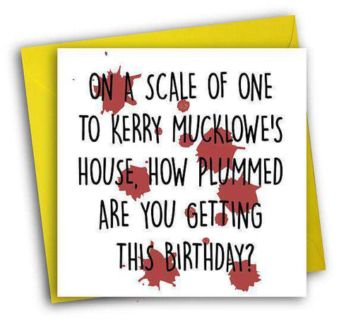 This Country Kerry Mucklowe Funny Happy Birthday Card FREE SHIPPING Unwelcome Greetings