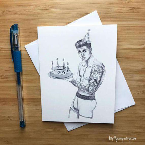 Justin Bieber Calvin Klein Photoshoot Happy Birthday Card Free