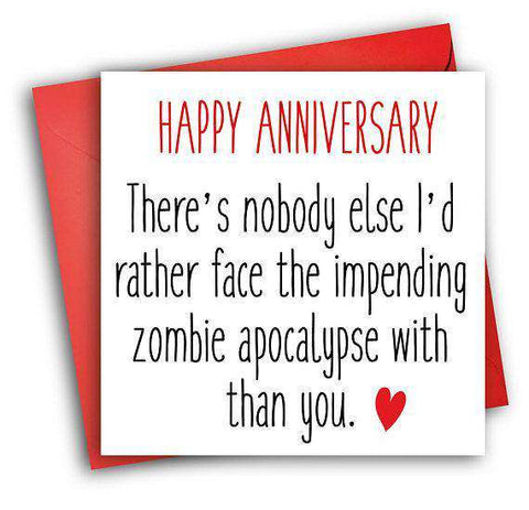 The walking dead zombie apocalypse with you funny anniversary card the walking dead zombie apocalypse with you funny anniversary card valentines day card love card free m4hsunfo