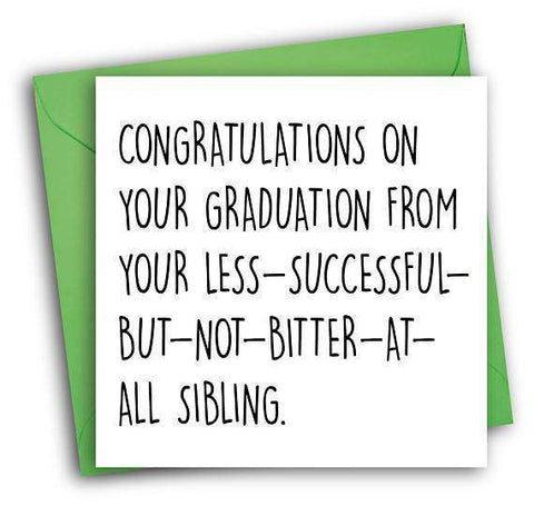 congratulations on your graduation sibling rivalry funny happy graduation card congratulations greeting card free shipping