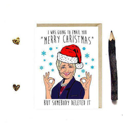 Hillary Clinton Email You Merry Christmas Funny Christmas Card Holiday Card
