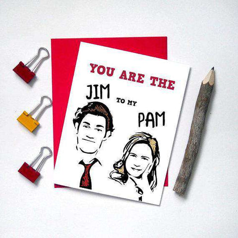 The Office Tv Series Jim to my Pam Funny Anniversary Card Valentines Day Card