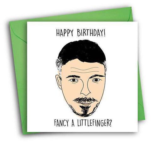 Game Of Thrones Littlefinger Funny Happy Birthday Card Free Shipping