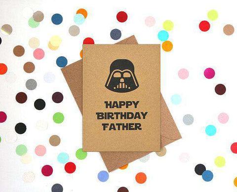 Darth Vader Star Wars Happy Birthday Father Funny Card Unwelcome Greetings