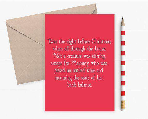 Christmas Card for Mums Funny Christmas Card Holiday Card FREE SHIPPING
