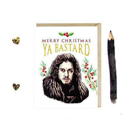 Game of Thrones Jon Snow Funny Christmas Card Holiday Card