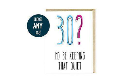Happy Dirty Thirty Birthday Funny Card Unwelcome Greetings