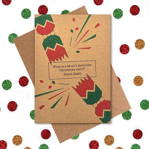 What Is Mum's Favourite Christmas Carol? Funny Christmas Card Holiday Card FREE SHIPPING