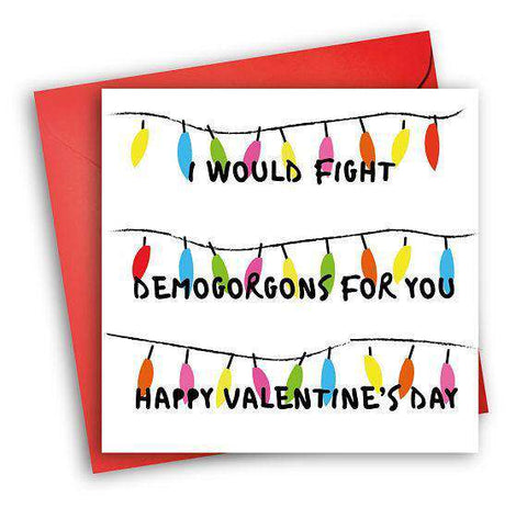 Stranger Things Demogorgons Funny Anniversary Card Valentines Day Card Love Card FREE SHIPPING