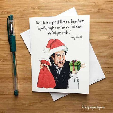 Jerry Seinfeld True Spirit Of Christmas Funny Christmas Card Holiday