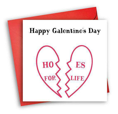 Happy Galentine's Day Hoes For Life Funny Anniversary Card Valentines Day Card Love Card FREE SHIPPING