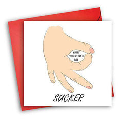 Circle Game Sucker Funny Anniversary Card Valentines Day Card Love Card FREE SHIPPING