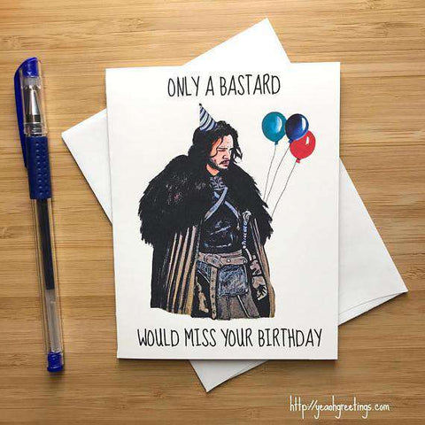 Funny hilarious unexpected trolling birthday cards page 2 game of thrones jon snow kit harington happy birthday card free shipping bookmarktalkfo Gallery