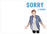 Justin Bieber Sorry Card (PLAYS ACTUAL SONG)