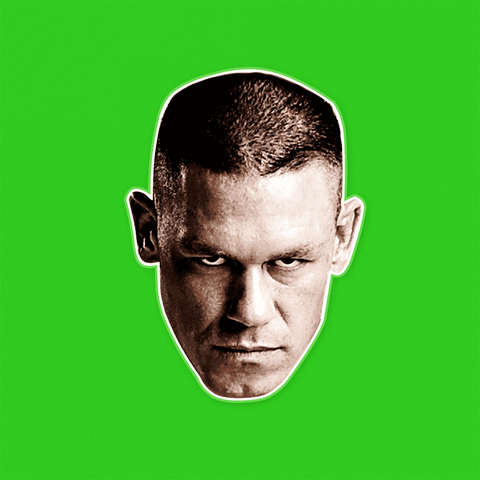 Angry John Cena Mask - Perfect for Halloween, Costume Party Mask, Masquerades, Parties, Festivals, Concerts - Jumbo Size Waterproof Laminated Mask