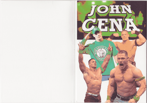 his name is john cena birthday card with sound  unwelcome greetings, Birthday card