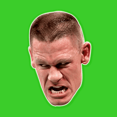 Savage John Cena Mask - Perfect for Halloween, Costume Party Mask, Masquerades, Parties, Festivals, Concerts - Jumbo Size Waterproof Laminated Mask
